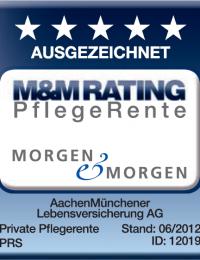 Ausgezeichnete Bewertungen für die Pflegeabsicherung der AachenMünchener