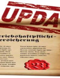 Vergessen Sie das Update nicht! Betriebs- / Berufshaftpflichtversicherung
